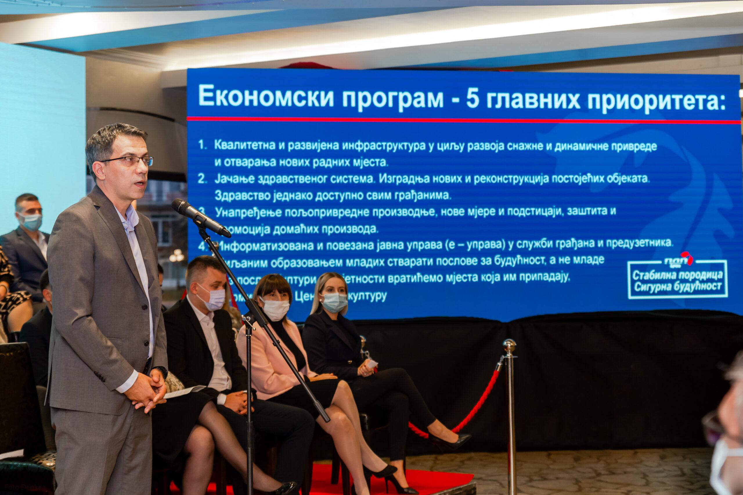 ПДП БРЧКО ПРЕДСТАВИО ЕКОНОМСКИ ПРОГРАМ ЗА ЛОКАЛНЕ ИЗБОРЕ 2020. ЗА СКУПШТИНУ БД
