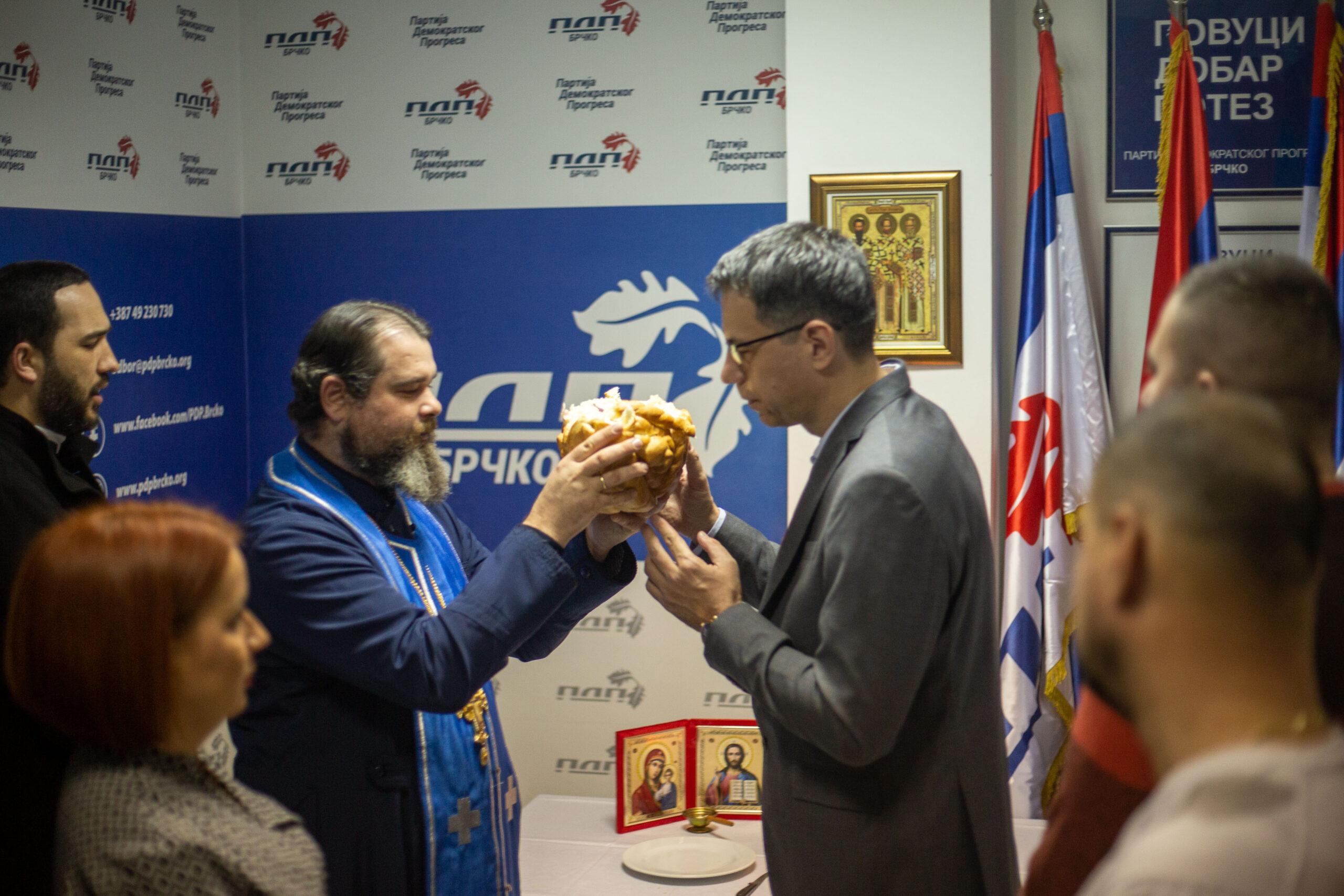 Партија демократског прогреса Брчко обиљежила крсну славу Света Три Јерарха